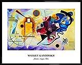 1art1 Wassily Kandinsky Poster Kunstdruck und Kunststoff-Rahmen - Gelb, Rot, Blau (50 x 40cm)