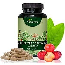 Extracto de Té Verde + Vitamina C Natural | LA DOSIS MÁS ALTA | 2250mg/