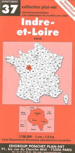 Carte routière : Indre-et-Loire