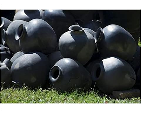 Photographic Print of Black pottery typical of