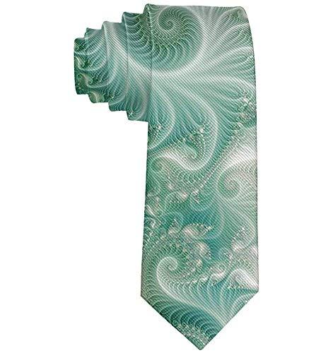 Warm Night Cravatta classica da uomo, Cravatta formale da uomo, Cravatte da matrimonio per feste subacquee di polpo verde