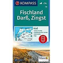 Fischland, Darß, Zingst: 4in1 Wanderkarte 1:50000 mit Aktiv Guide und Detailkarten inklusive Karte zur offline Verwendung in der KOMPASS-App. Fahrradfahren. (KOMPASS-Wanderkarten, Band 736)