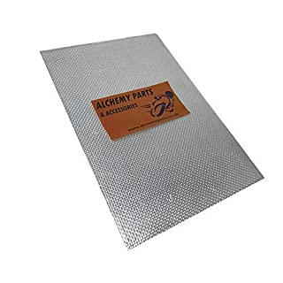 Self Adhesive Exhaust / Engine Aluminium Reflective Heat Shield Sheet 100cm x 33cm Ideal for Motorbike Motorcycle Fairing and Car