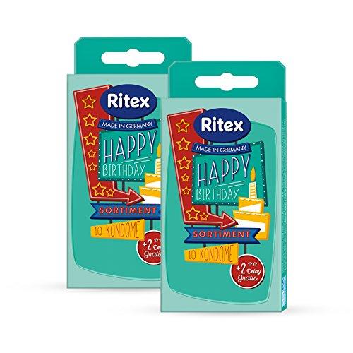 Ritex HAPPY BIRTHDAY Kondome, Kondom Mix-Pack, 24 Stück, Made in Germany