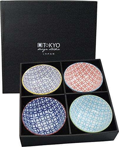 Tokyo Design Studio, floral multicolore, 4 bols, 4 pièces, Ø 15.2 cm, en porcelaine du Japon