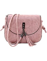 Blingg Double Tassel Leather Strap Bag Gift For Girls/Women