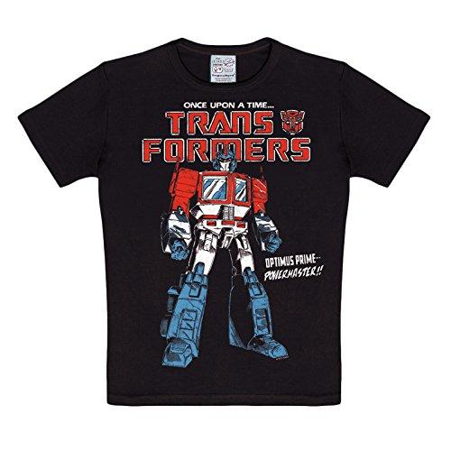 Transformers - T-Shirt con stampa Powermaster Optimus Prime - Licenza ufficiale - Ottima qualità - Nero - 140/152