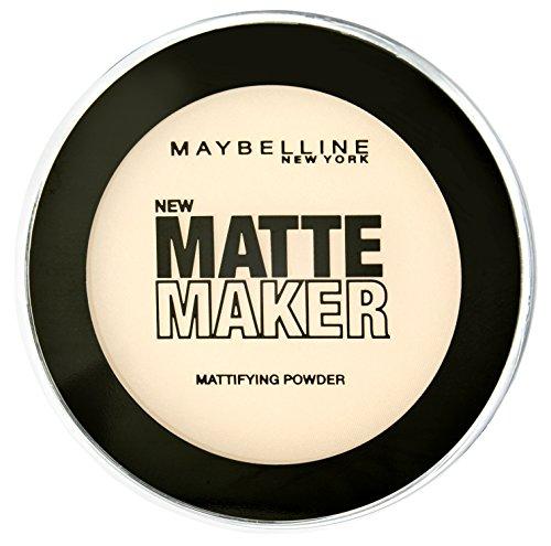 Maybelline New York Matte Maker Puder Nude Beige 20 / Make-Up Powder in einem beigen Hautfarben-Ton, für einen makellosen und mattierten Teint, mit leichtem Tragegefühl, 1 x 16 g