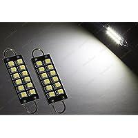 2x 44mm 275lampadine LED SMD luminoso Xenon Bianco rigido Loop gancio cupola lampadine 12V (Lampadina Loop Rigido)