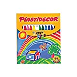 Bic - Ceras de colores Plastidecor, pack de 12