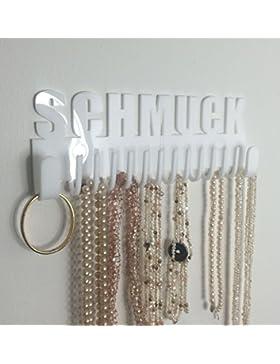 Schmuckhalter Galeara design wand mit schriftzug Schmuck (Weiß)