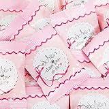 50 Stück kleine Päckchen Gummibärchen give-away - Geschenk SCHÖN DASS DU DA BIST Herz ROSA PINK KRONE WEISS Gastgeschenke Mitgebsel Hochzeit Geburtstag Fest Feier Gäste