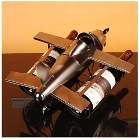 supporto bottiglia vino cremagliera vetro aereo