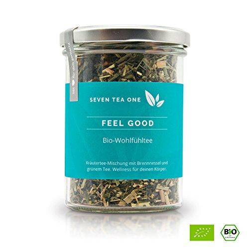 Feel Good Bio Wohlfühl-Tee zur Begleitung einer Detox-Kur, Diät & Abnehmen, Fasten, Entgiftung (Detox), Reinigungs- & Entschlackungs-Kur, 75g für 30-Tage, auch ohne Sport, Made in Germany -