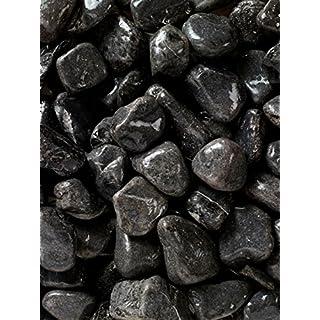 4 x 10 kg Polished Black River Cobbles 5-8cm