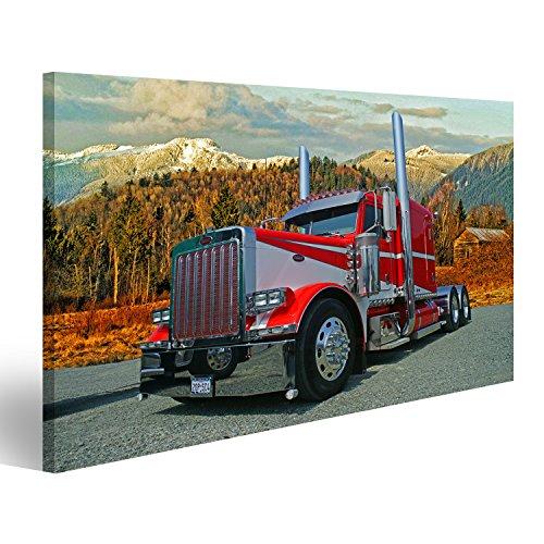 islandburner Bild Bilder auf Leinwand Peterbilt US Truck LKW Poster,  Leinwandbild, Wandbilder