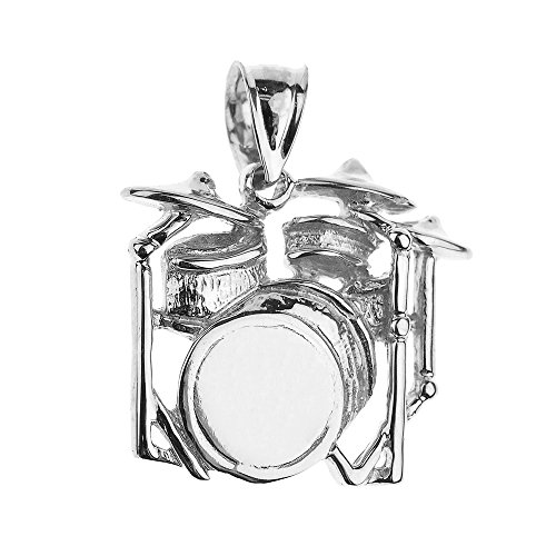925Sterling Silber Musik Charme Drum Set Anhänger von Musik Schmuck