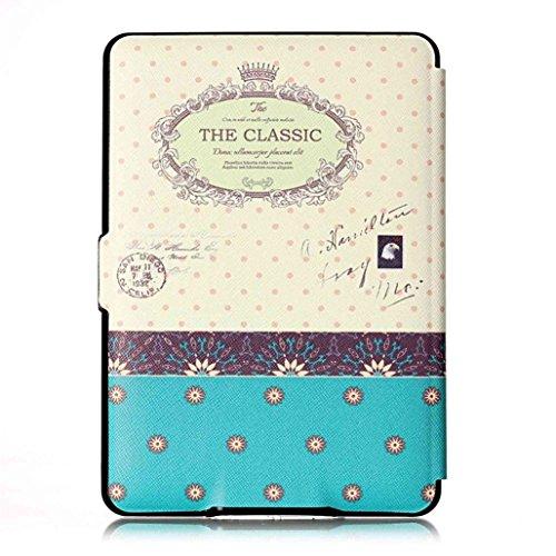 Kindle Paperwhite HüLle, QinMM Magnetisches Leder Intelligent Fall Flip Abdeckung Haut FüR Amazon Kindle Paperwhite 1 2 3 172x122mm (H) (Für Kindle Kinder Paperwhite-fälle)