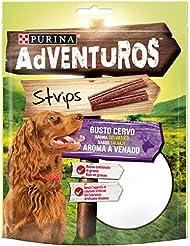 PURINA ADVENTUROS  Snack Cane Strips al Gusto Cervo - 6 buste da 90g ciascuna