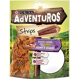 Purina Adventuros  Snack Cane Strips al Gusto Cervo, 6 Buste da 90 g Ciascuna