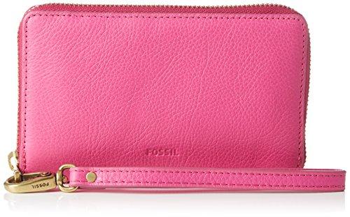 Fossil Damen Emma Geldbörse, Hot Pink, 2.54x9.5299999999999994x15.24 cm
