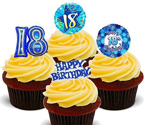 24x 20th Anniversaire Violet Papier De Riz Comestible Cupcake Decoration Kitchen, Dining & Bar