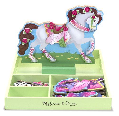 Melissa & Doug 18591 - Cavallo in Legno da Vestire Magnetizzato - Il Mio Cavallo Clover