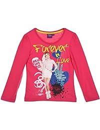 Tee shirt manches longues fille Violetta Rose foncé de 6 à 12ans