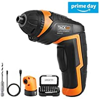 TACKLIFE Cordless Screwdriver SDP51DC Rechargeable Cordless Screwdriver 3.6V 2000mAh Lithium-Ion Battery Electric Driver with 34 Accessories Perfect for Household DIY Works