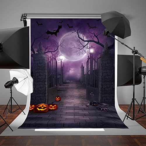 Aparty4u Halloween Fotografie Hintergrund Tuch Fotografie Hintergrund für Halloween Party Dekoration Studio Foto Requisiten (2,2x1,5m / 7x5ft)