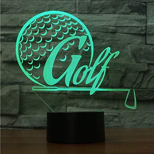 Mbambm Kreative 3D Sport Schreibtischlampe Led 7 Bunte Golf Modellierung Nachtlicht Usb Golf Enthusiasten Geschenke Leuchten Schlafzimmer Dekor