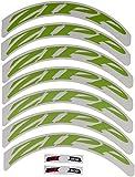 Zipp 808/Disc Keine Grenze, Logo 700C komplett für 1x Rad (spezielle Bestellung) Aufkleber-Set, Blau, Unisex, Greens