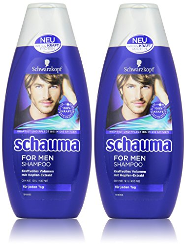 Schwarzkopf Schauma For Men Shampoo, 2er Pack (2 x 400 ml)