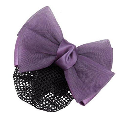 2pcs Bow Tie barette cheveux clip Snood Net coiffure pour les femmes, N