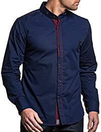 BLZ jeans - Chemise stylée bleu navy homme
