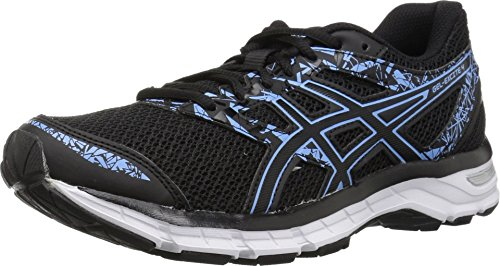 ASICS Women's Gel-Excite 4 Running Shoe, Black/Blue Bell, 11 M US