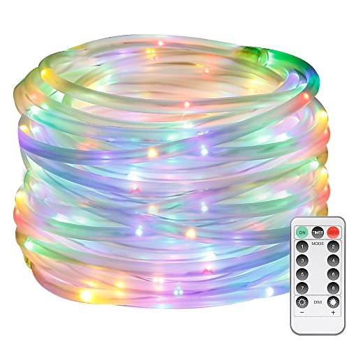 LE 120er RGB LED Lichterschlauch 10M Mehrfarbig 8 Modi mit Memory-Funktion für Innen Außen Party Weihnachten Dekolicht