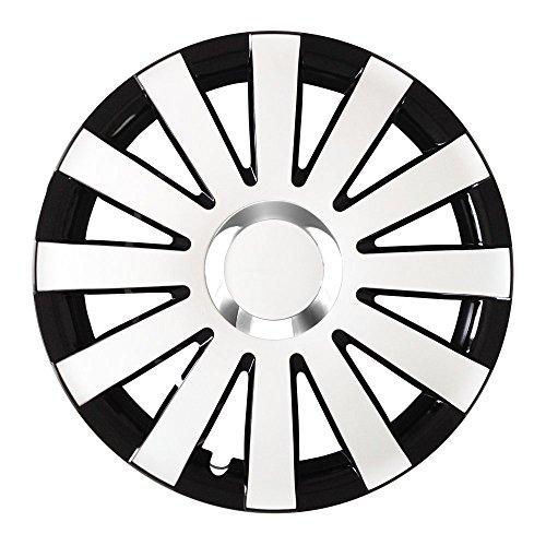 Autoteppich Stylers 16 Zoll Radkappen Onyx Schwarz-Weiß (Farbe und Größe wählbar!)
