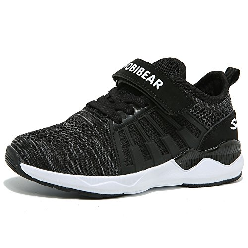 GUBARUN Boys Breathable Knit Sneakers Lightweight Mesh Athletic Running Shoes (Running Kid Sneaker)