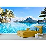 Startonight Papel Pintado Árboles Exóticos en el Lago - Fotomurales Playa XXL 256 x 366 cm