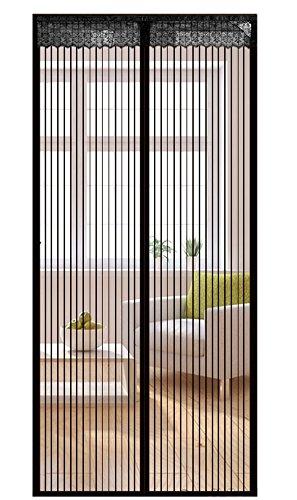 Liveinu Fliegengitter Tür Insektenschutz Magnet Fliegen Gitter Vorhang Fliegenvorhang für Balkontür Wohnzimmer Schwarz 90x240cm