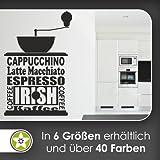 Kaffee Kaffeemaschine Wandtattoo in 6 Größen - Wandaufkleber Wall Sticker