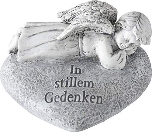 Bo Trauerengel Gedenkstein Grab Engel (Im stillen Gedenken) -