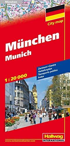 München Stadtplan 1:20 000: Zentrum, Verkehrsplan, Index (Hallwag Stadtpläne)