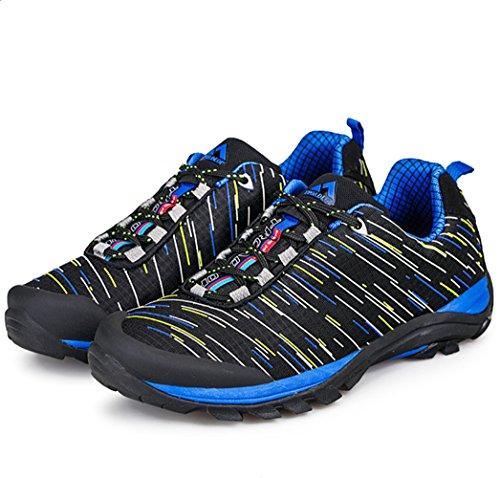 chaussures randonnée pédestre Belles Derbies Nouvelles Hiver Sneakers Hommes bleu foncé
