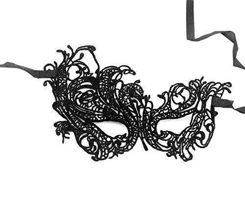 CAOLATOR Spitze Augenmaske Ausschnittmaske Maske Mardi Gras Masquerade Party Halloween Karneval Frauen Schwan Lace Masken