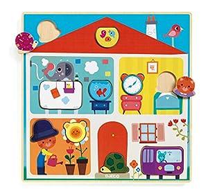 DJECO- RompecabezasPuzzles encajables y rompecabezasDJECOEncajable Swapy, Multicolor (15)