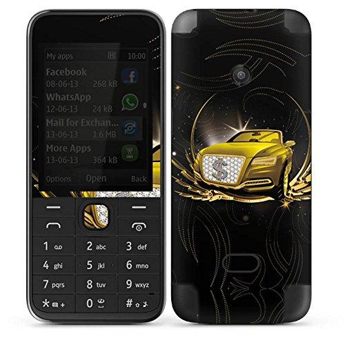 DeinDesign Nokia 208 Case Skin Sticker aus Vinyl-Folie Aufkleber Dollar Auto Gold