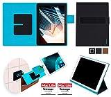 reboon Dell Latitude 5285 2 in 1 Hülle Tasche Cover Case Bumper | in Schwarz Leder | Testsieger