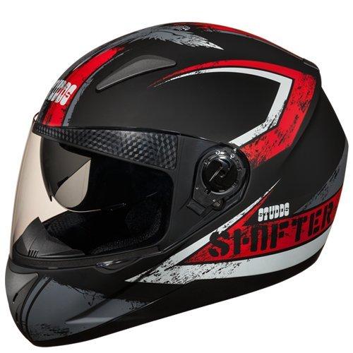 Studds Shifter D1 Helmet (Matt Black And N2, M)